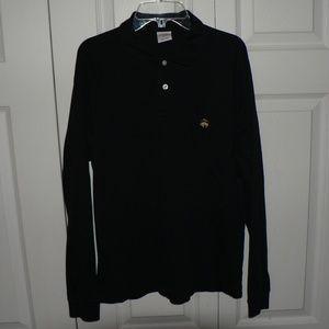 Vintage Brooks Brothers 346 Black Long Sleeve Polo